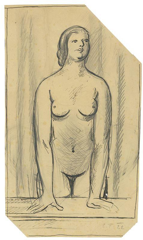 Emanuel Frinta – Žena s podepřenýma rukama