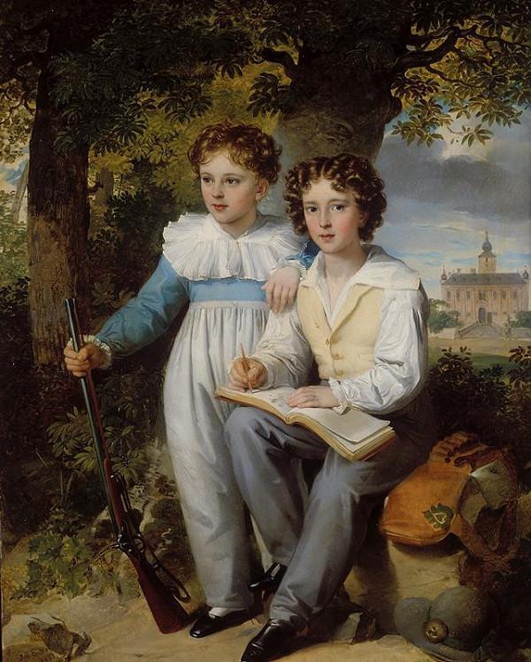 Johann Nepomuk Ender - Podobizna dvou hochů