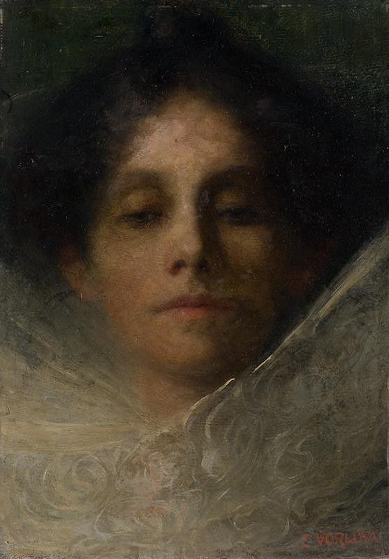 Zdeňka Vorlová-Vlčková – Portrétní studie - Ženská hlava