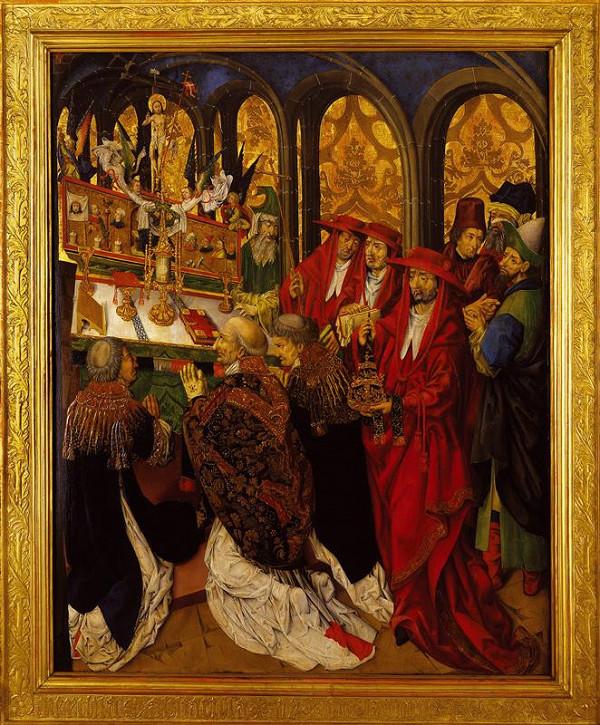 neznámý malíř středoevropský - pod vlivem Nizozemí – Mše sv. Řehoře