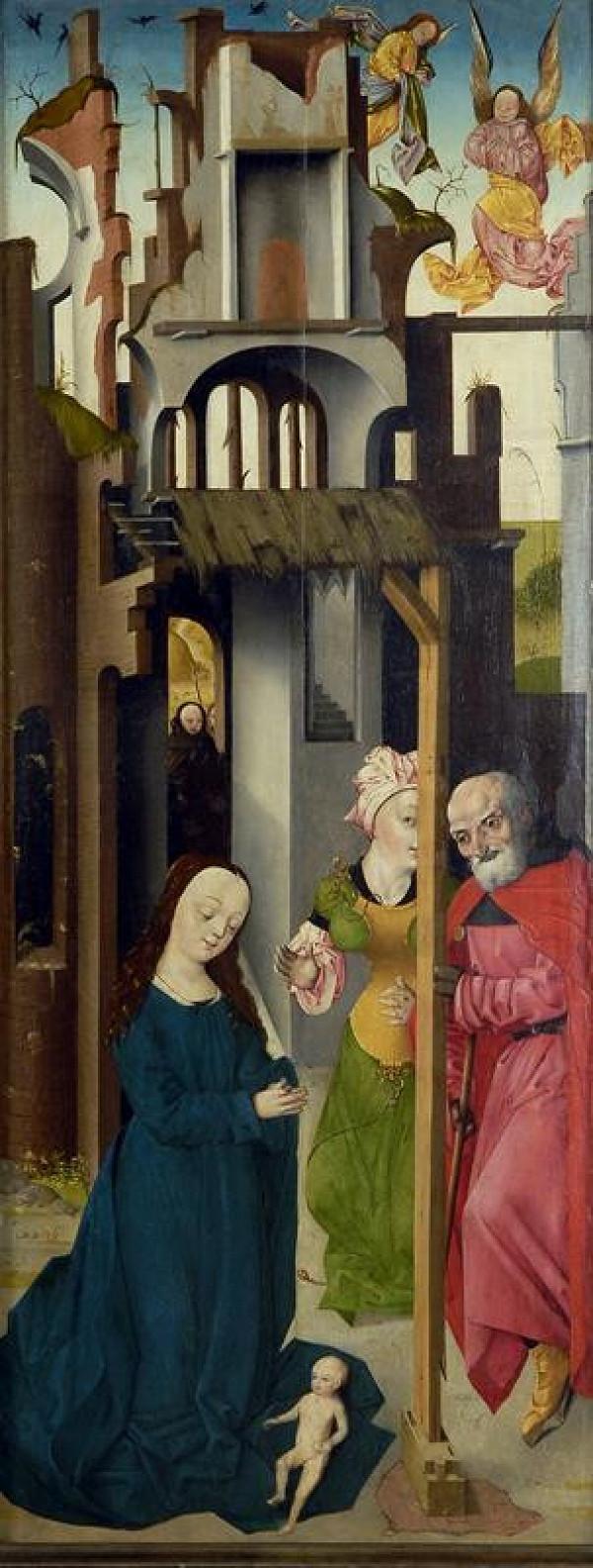 neznámý malíř nizozemský – Narození Krista
