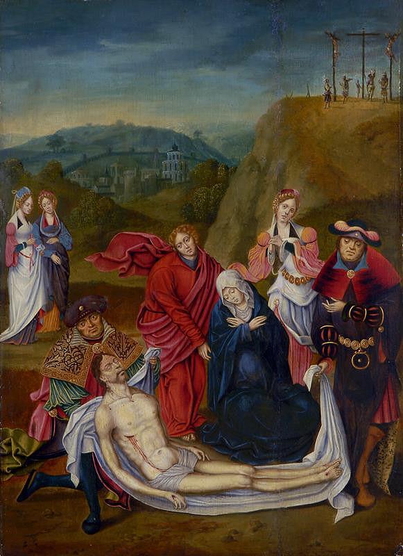neznámý malíř nizozemský - Oplakávání Krista