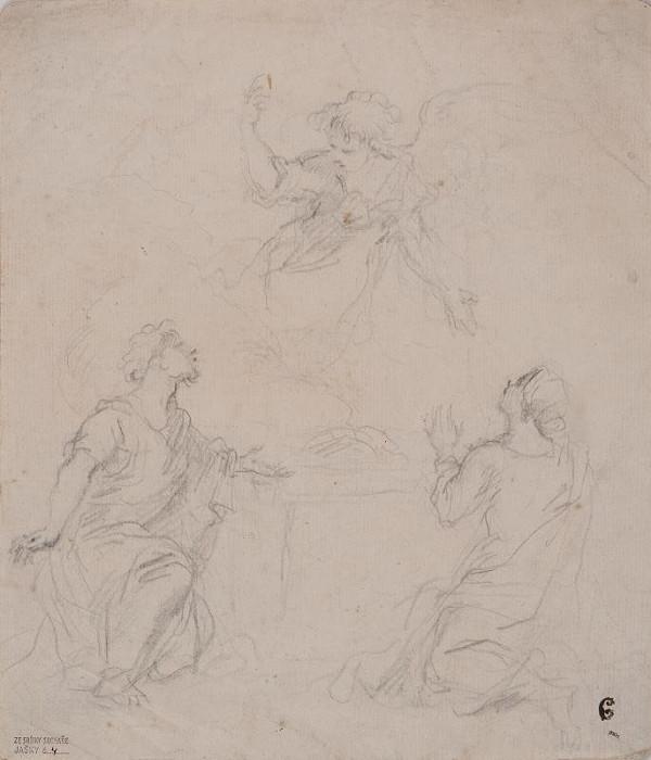 neznámý malíř italský - Oběť Monoachova