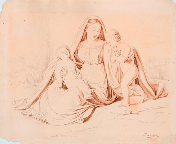 František Tkadlík (Kadlik) – Madona s dítětem a sv. Janem Křtitelem
