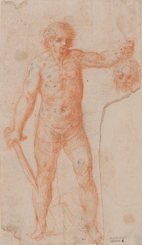 neznámý malíř italský - Kat s hlavou sv. Jana Křtitele