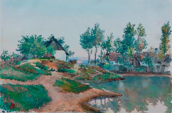 Ludvík Ehrenhaft - Rybník za humny