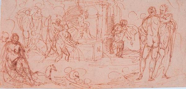 neznámý malíř italský - Diana a Akteon