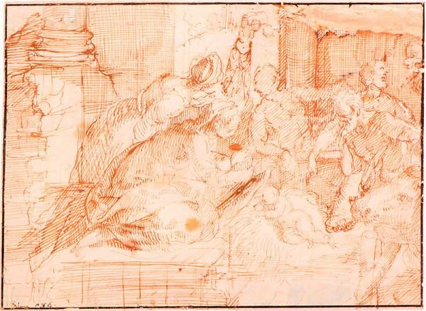 neznámý malíř boloňský - Klanění pastýřů