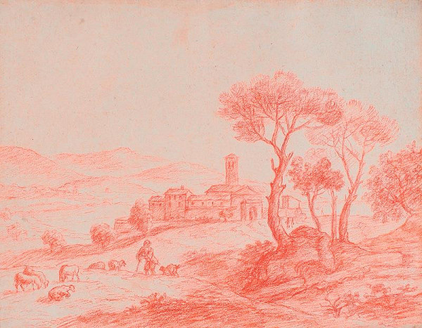 neznámý malíř italský - Klášter v Castel Gandolfo v Albanských horách