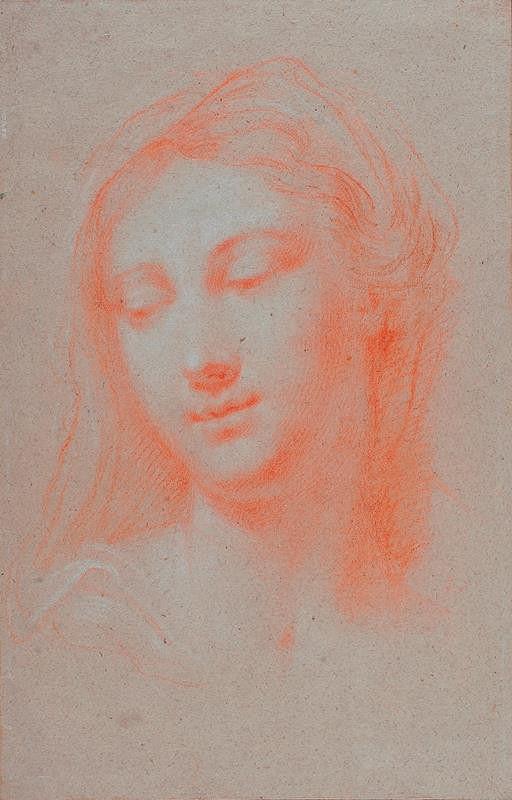 neznámý malíř římský - Hlava mladé ženy (Panna Marie)