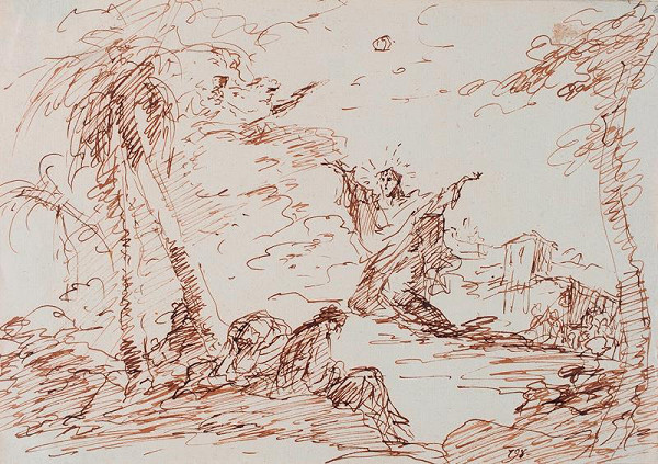 neznámý malíř italský - Kristus na hoře Olivetské