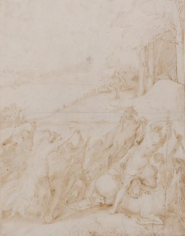 neznámý malíř italský - Diana na lovu