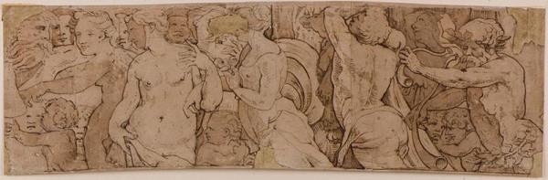 neznámý malíř italský - Mytologický průvod