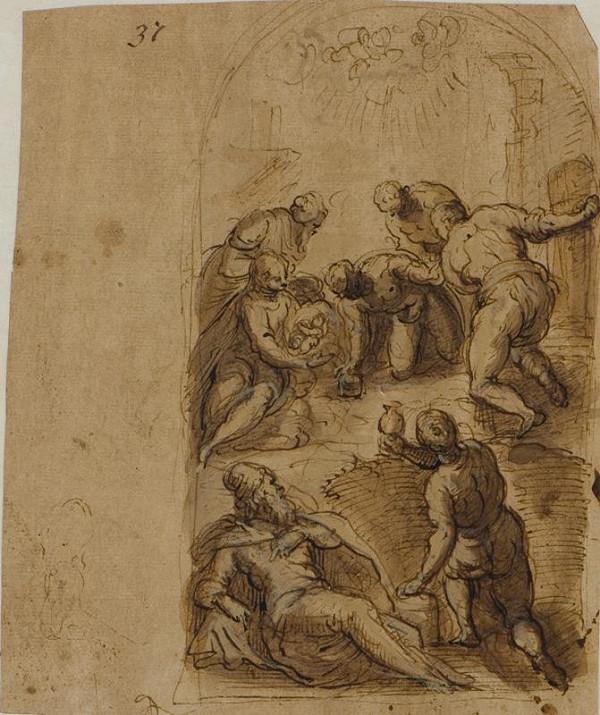 Jacopo Negretti zv. Palma il Giovane - okruh – Klanění pastýřů