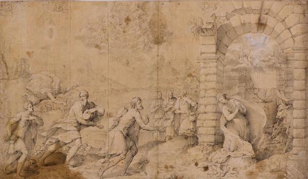 neznámý malíř italský – Narození Páně