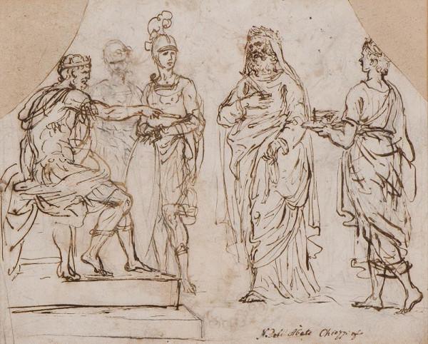 neznámý malíř italský - Historický nebo biblický výjev