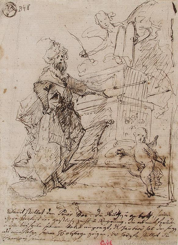 Josef Winterhalder II. (Winterhalter) - Král David před archou úmluvy