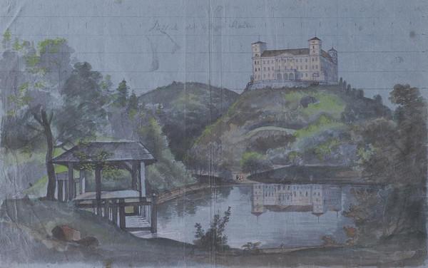 František (Franz) Richter - Pohled na Račice od jihu