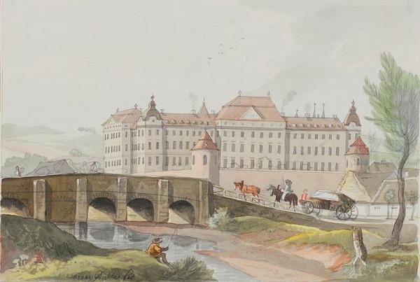 František (Franz) Richter - Pohled na Louku u Znojma.