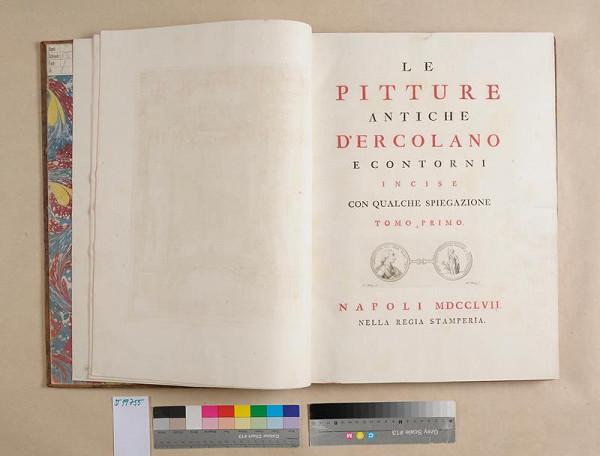 neurčený autor – Le pitture antiche dˇErcolano. Tomo primo