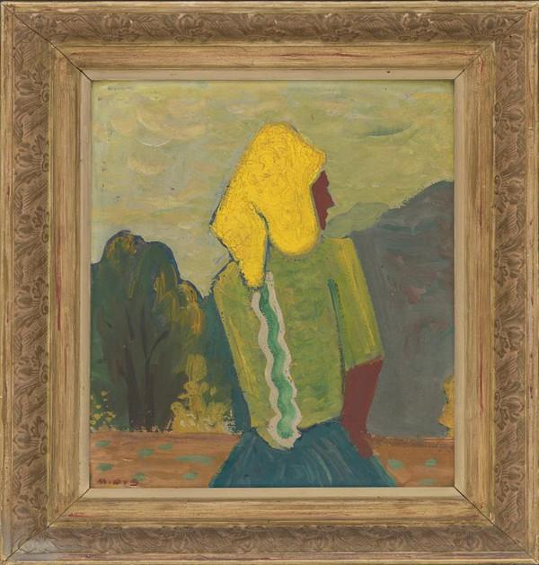 Miloš Alexander Bazovský – Žena v žltej šatke