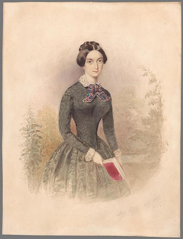Eleonore Auegg-Dilg – Portrét dámy s knihou
