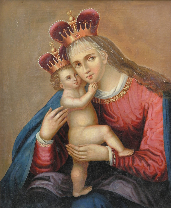 Stredoeurópsky maliar z konca 19. storočia – Kópia obrazu Panny Márie Pomocnej (Pasovskej)