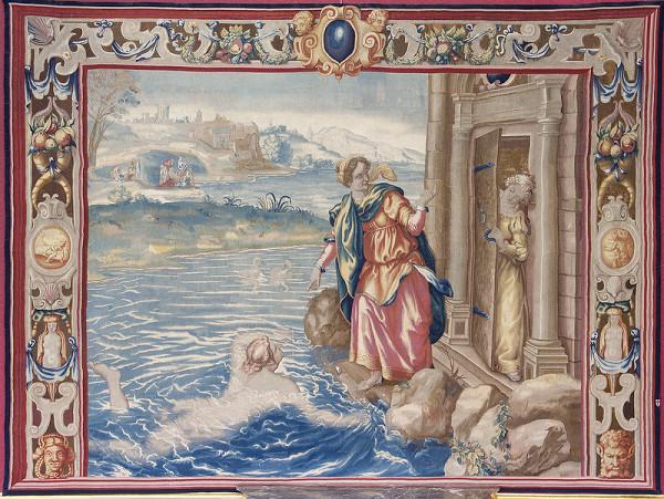 Francis Cleyn – Janthe oznamuje Leandrov príchod