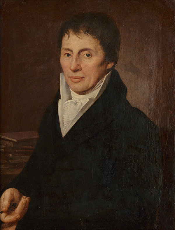 Ján Höfel - Portrét muža s bielou viazankou