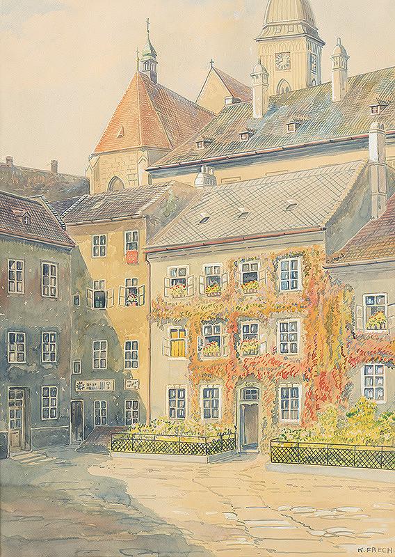 Karol Frech – Dvor Academie Istropolitany v Bratislave