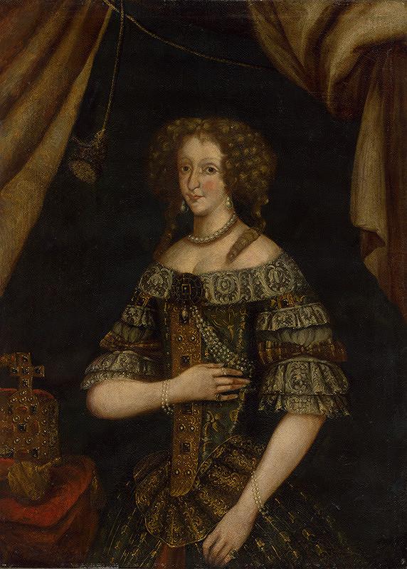 Stredoeurópsky maliar zo začiatku 18. storočia – Portrét cisárovnej Eleonóry Magdalény Terézie von Pfalz-Neuburg