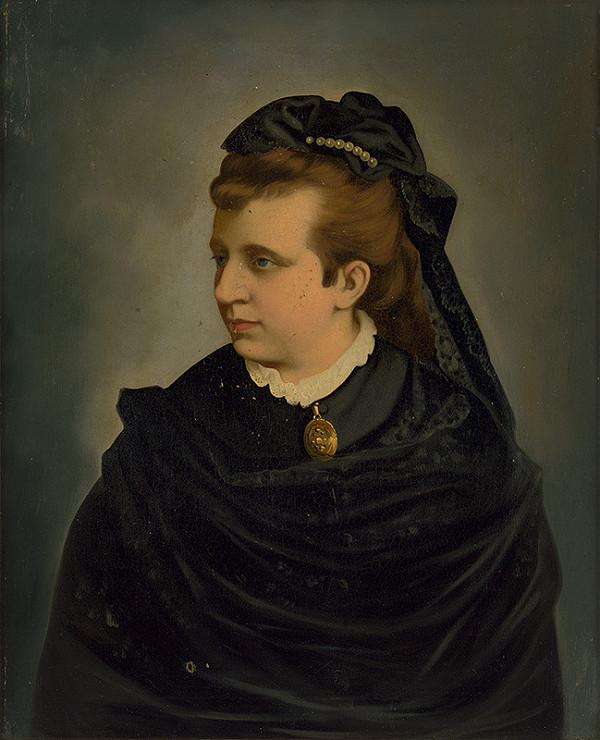 Stredoeurópsky autor z konca 19. storočia - Portrét dámy v čiernom