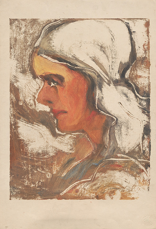 Zolo Palugyay - Žena v šatke
