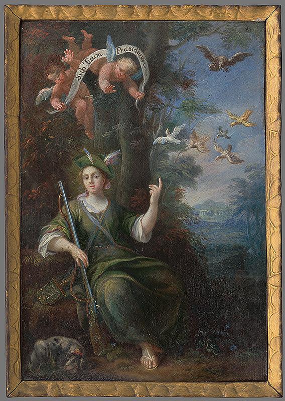 Stredoeurópsky maliar z 2. polovice 18. storočia – Panna Mária ako ochrankyňa (poľovníčka)