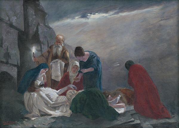 Felicián Moczik - Uloženie Krista do hrobu