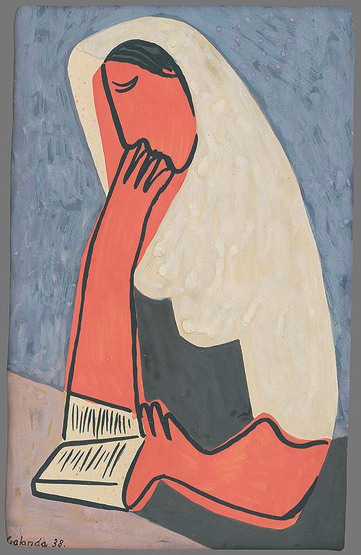 Mikuláš Galanda - Žena s motlitebnou knižkou