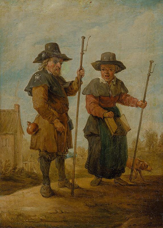 Nemecký maliar z 18. storočia, Holandský maliar z 18. storočia, David Teniers ml. – Pútnici