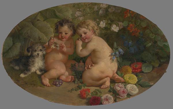 Stredoeurópsky maliar z 2. polovice 19. storočia - Hrajúce sa putti
