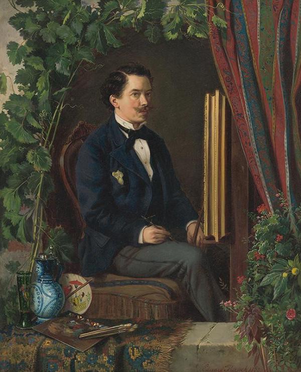 Eduard Majsch – Autoportrét v ateliéri