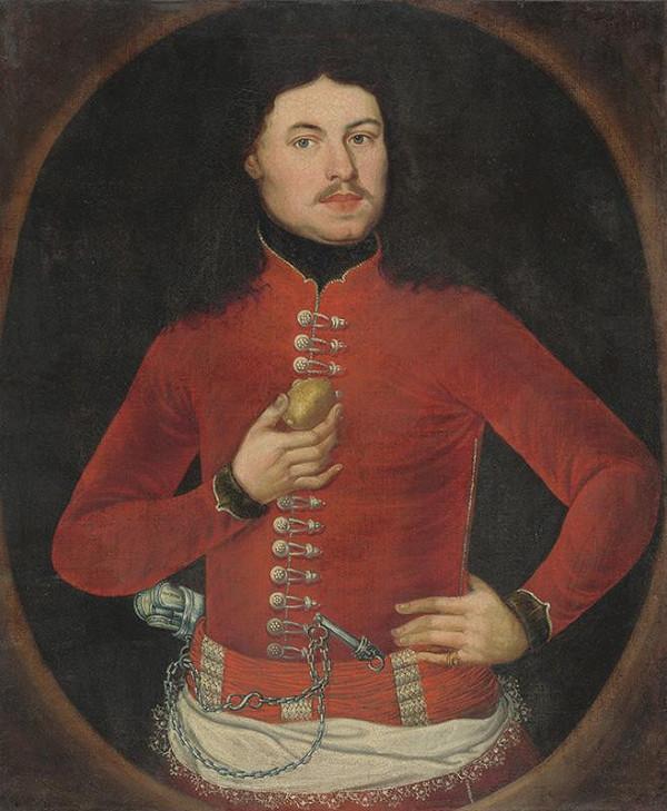 Slovenský maliar z 1. polovice 18. storočia – Portrét muža s citrónom