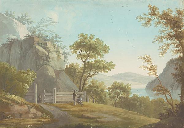 Stredoeurópsky maliar z 1. štvrtiny 19. storočia – Krajina s drevenou ohradou