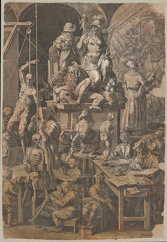 Taliansky grafik zo 17. storočia - V ateliéri