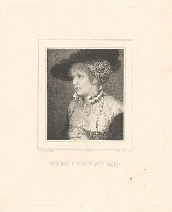 Eduard Büchel, Ferdinand Kaulbach - Portrét dievčaťa