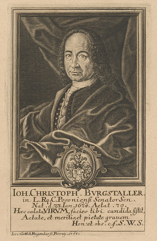 Jeremias Gottlob Rugendas – Portrét Jána Krištofa Burgstallera