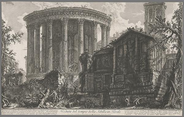 Giovanni Battista Piranesi - Pohľad na Sibilin chrám v Tivoli