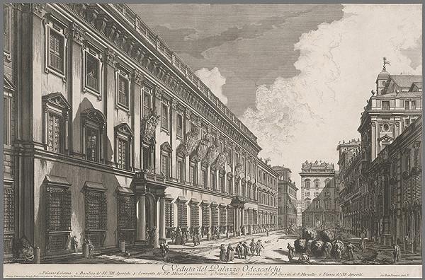 Giovanni Battista Piranesi – Pohľad na palác Odescalchi