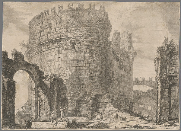 Giovanni Battista Piranesi - Hrobka Cecilie Metelly pri Via Appia v Ríme