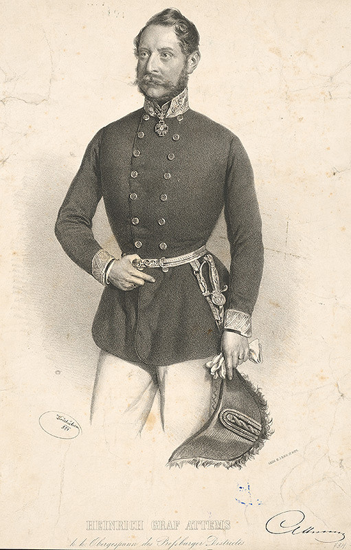 Joseph Kriehuber – Portrét Heinricha Attemsa