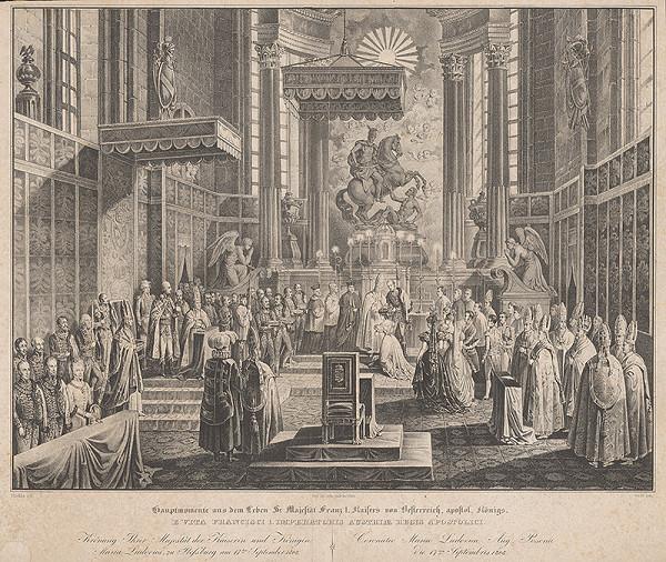 Franz Wolf, Johann Nepomuk Höchle – Korunovanie Márie Ludoviky