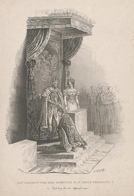 Franz Wolf, Johann Nepomuk Höchle – Z korunovácie Ferdinanda V.